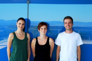 The authors. From left to right. Julia Santiago (postdoctoral fellow, supported by a FEBS long-term fellowship), Christine Henzler (research assistent) und Michael Hothorn of the Friedrich-Miescher-Laboratory of the Max Planck Society.